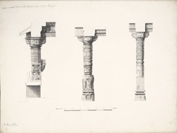 Dholka, Gujarat: Pillars in the corridor of the Tanka Masjid f.30